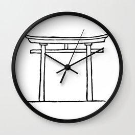 Torii door Wall Clock