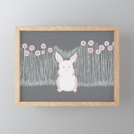 Lonely Bunny Framed Mini Art Print