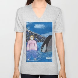Nicole, A Whale of a Woman Unisex V-Neck