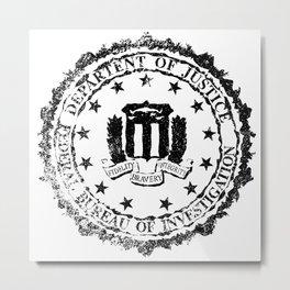 FBI Rubber Stamp Metal Print
