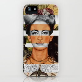 "Frida Kahlo ""Self Portrait with Thorn Necklace"" & Joan Crawford iPhone Case"