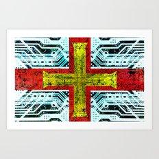 circuit board guernsey Art Print