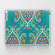 folk turquoise damask Laptop & iPad Skin