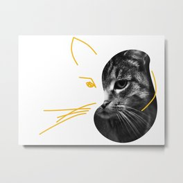 Gestalt Cat Metal Print