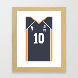 Hinata Shouyou Uniform - Karasuno Volleyball Uniform from Haikyuu!! Framed Art Print