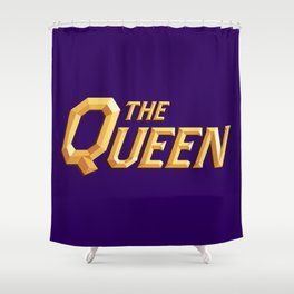 The Queen Full Logo Shower Curtain