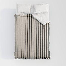Black Vertical Lines Comforters