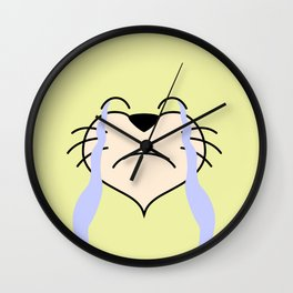 Cat Face 03 Design 02 Wall Clock
