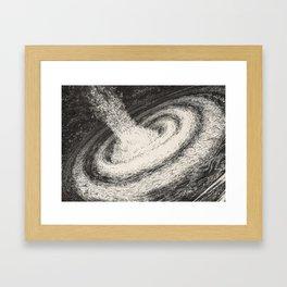 Galaxy Particles Infinite Framed Art Print