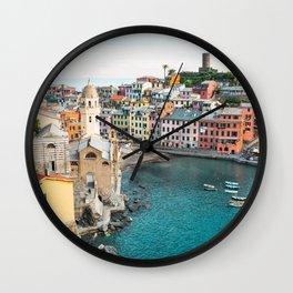 Vernazza, Italy (Landscape) Wall Clock