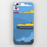finding nemo iPhone & iPod Skins featuring The Tomorrowland Series: The Finding Nemo Submarine Voyage by The Disneyland Minimalist