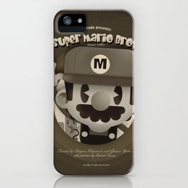 Mario Bros Fan Art iPhone Case