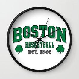 boston basketball Wall Clock