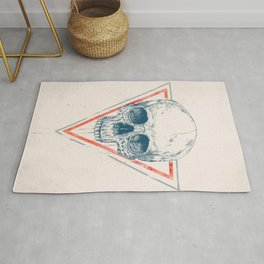 Skull in triangle II Rug