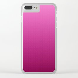 Classic Gradient Mercy Pink Clear iPhone Case