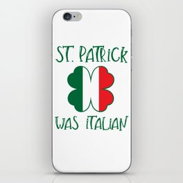 St Patrick's Day Irish Clover Italian Shamrock Flag Design iPhone Skin