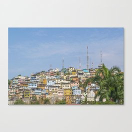 Low Angle View of Cerro Santa Ana in Guayaquil Ecuador Canvas Print