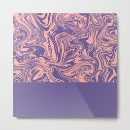 Liquid Swirl - Peach Bud and Ultra Violet Metal Print