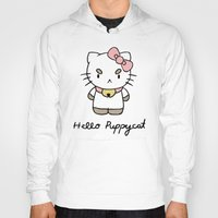bee and puppycat Hoodies featuring Hello Puppycat by Nate Galbraith