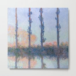 The Four Trees by Claude Monet Metal Print