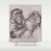 hug Shower Curtains featuring HUG by Ivano Nazeri