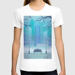 Manhattan Park Winter Storm T-shirt