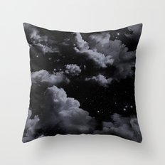 Night Sky with Clouds Throw Pillow