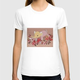 Elephant in the flowers T-shirt