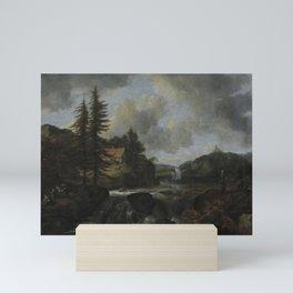 Jacob van Ruisdael - Norwegian Landscape with Waterfall Mini Art Print