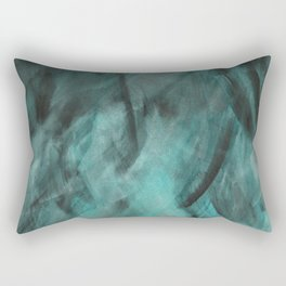 Deep Teal Texture Rectangular Pillow