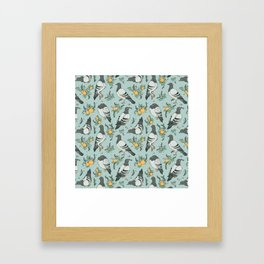 Pigeons, Apricots, and Thyme Framed Art Print