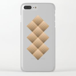 Diamond gradient pattern in brown Clear iPhone Case