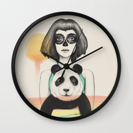 Fostered Existence (Death and Life) Wall Clock