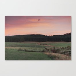 Southern Sunset in Tennessee Canvas Print