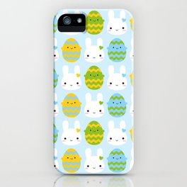 Kawaii Easter Bunny & Eggs iPhone Case