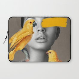 Girl with Parrots Laptop Sleeve