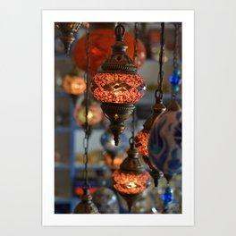 Turkish Mosaic Lamps Art Print