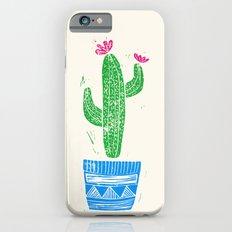Linocut Cacti #2 in a pot Slim Case iPhone 6s