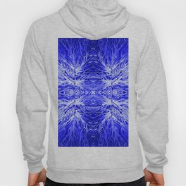 Electric Aqua Blue Sunset by Chris Sparks Hoody