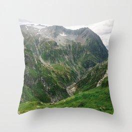 Mighty Mountains of Switzerland Throw Pillow