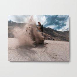 Enjoying in Sand dunes Metal Print