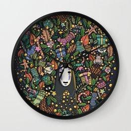 Kaonashi no-face christmas Wall Clock