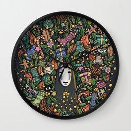 Kaonashi no-face christmas Wall Clock