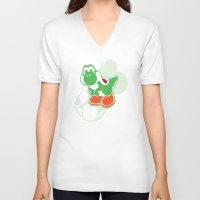 yoshi V-neck T-shirts featuring Yoshi by Amanda Blauser