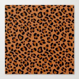 Leopard Print Scribble Pattern Canvas Print