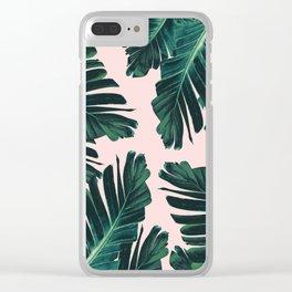 Tropical Blush Banana Leaves Dream #4 #decor #art #society6 Clear iPhone Case