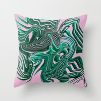 palms Throw Pillows featuring Palms by Katekima