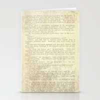 jane eyre Stationery Cards featuring Jane Eyre, Mr. Rochester Proposal by Charlotte Bronte by ForgottenCotton