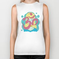 om Biker Tanks featuring Om by Monstruonauta