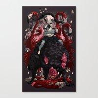 kieren walker Canvas Prints featuring Walker by SPYKEEE